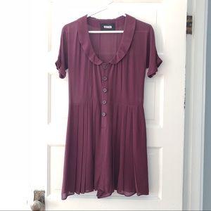 REFORMATION Burgundy Dress